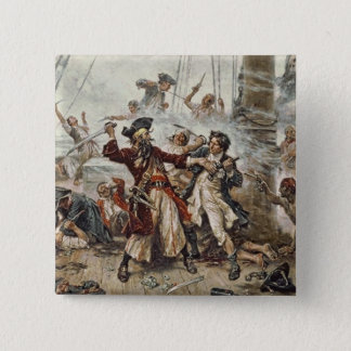 The Capture of Blackbeard 15 Cm Square Badge