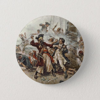 The Capture of Blackbeard 6 Cm Round Badge