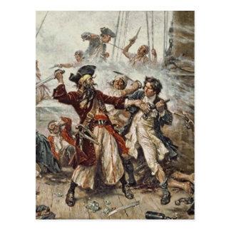 The Capture of Blackbeard Postcard