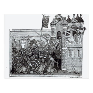 The Capture of Damietta in 1249 Postcard