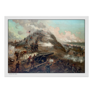 The Capture Of Fort Fisher -- Civil War Poster