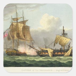 The Capture of La Vengeance, August 21st 1800, eng Square Sticker