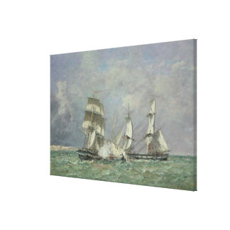 The Capture of the 'Petit Rodeur', 1878 (oil on ca Canvas Print