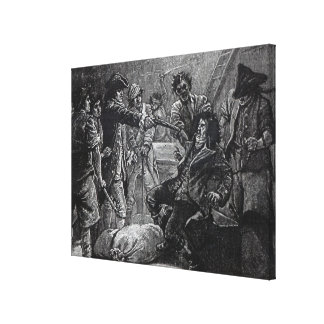 The Capture of Wolfe Tone in 1798 Canvas Print