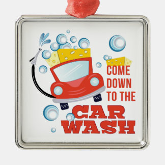 The Car Wash Silver-Colored Square Decoration