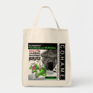 The Carbon Footprint Monster - Part 1 Grocery Tote Bag