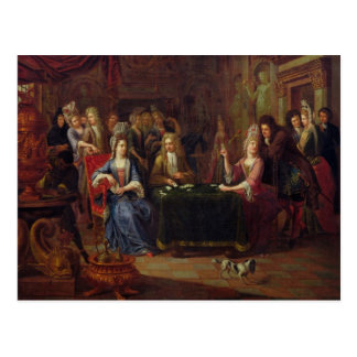 The Card Players, 1699 Postcard