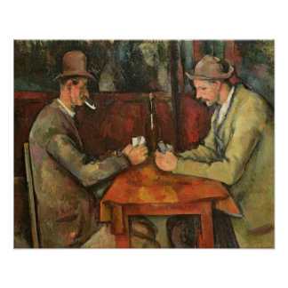 The Card Players, 1893-96 Poster