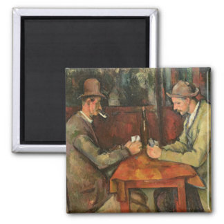 The Card Players, 1893-96 Square Magnet