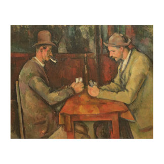The Card Players, 1893-96 Wood Wall Decor