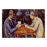 The Card Players by Paul Cezanne Poster