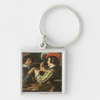 The Card Players Key Ring