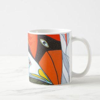 the cardinal and the seagull basic white mug