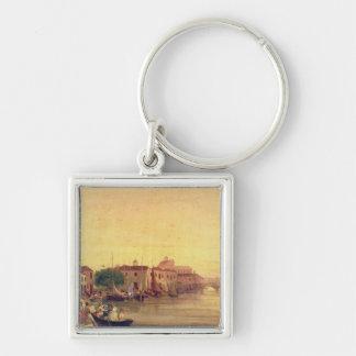 The Careenage, Bridgetown, Barbados, c.1848 Key Ring
