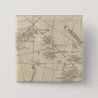 The Caribbean Islands, the Virgin Islands 15 Cm Square Badge