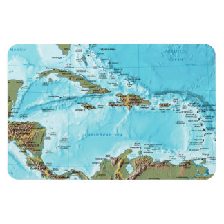 The Caribbean (map) Rectangular Photo Magnet