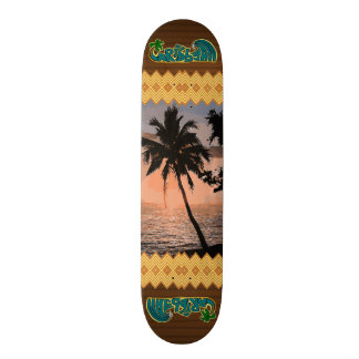 The Caribbean Palm Scene Skateboard Decks