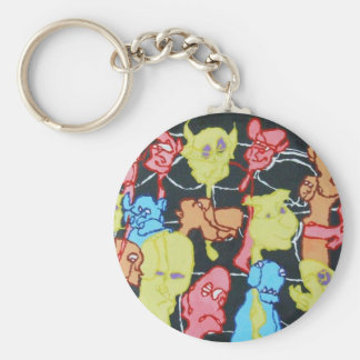 The Carnival Basic Round Button Key Ring