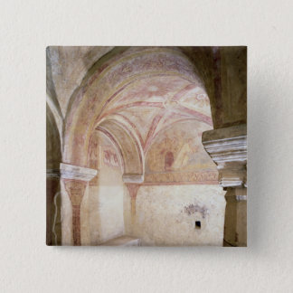The Carolingian frescoes in the inner crypt 15 Cm Square Badge