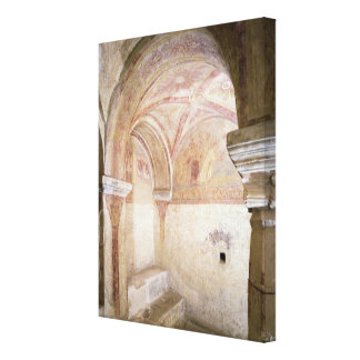 The Carolingian frescoes in the inner crypt Canvas Print