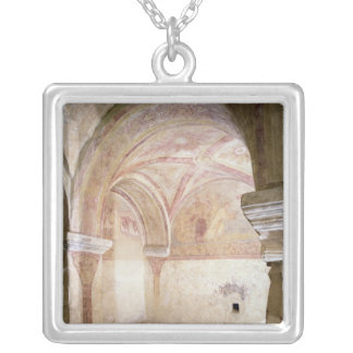 The Carolingian frescoes in the inner crypt Silver Plated Necklace