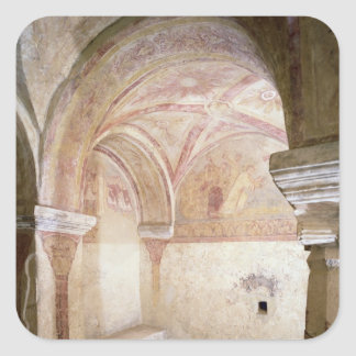 The Carolingian frescoes in the inner crypt Square Sticker
