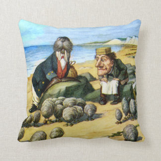 The Carpenter and Walrus in Wonderland Cushion