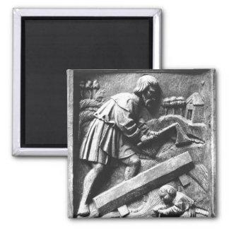 The Carpenter, detail from an altarpiece Magnet