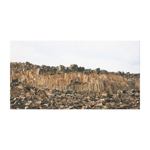 The carpentry Ramon crater desert nature phenomena Stretched Canvas Print