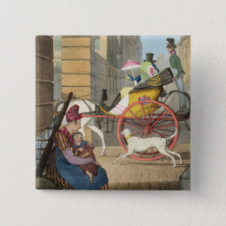 The carriage entrance, from 'Twenty-four Subjects, 15 Cm Square Badge