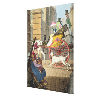 The carriage entrance, from 'Twenty-four Subjects, Canvas Print