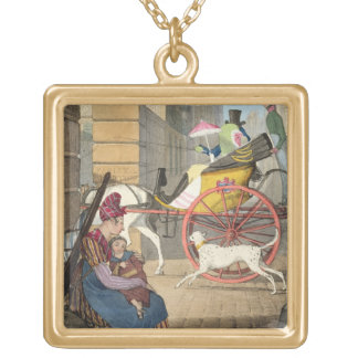The carriage entrance, from 'Twenty-four Subjects, Gold Plated Necklace