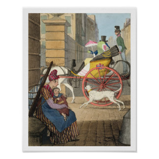 The carriage entrance, from 'Twenty-four Subjects, Poster