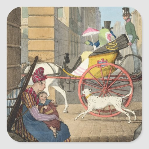 The carriage entrance, from 'Twenty-four Subjects, Stickers