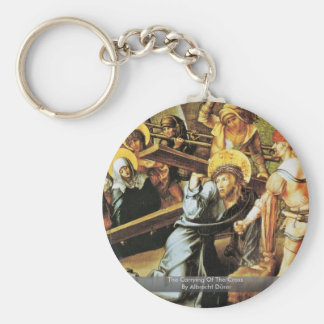 The Carrying Of The Cross By Albrecht Dürer Basic Round Button Key Ring