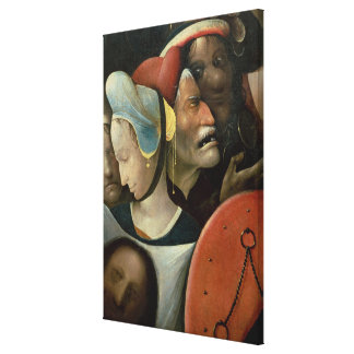 The Carrying of the Cross showing three faces Canvas Print