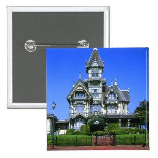 The Carson Mansion in Eureka, California 15 Cm Square Badge