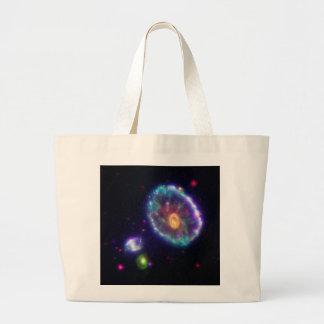 The Cartwheel Galaxy Jumbo Tote Bag