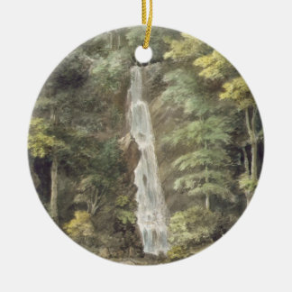 The Cascade Waterfall at Hestercombe Gardens (w/c Christmas Ornament
