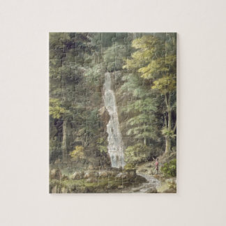 The Cascade Waterfall at Hestercombe Gardens (w/c Jigsaw Puzzle