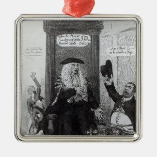 The Casting Vote, or the Independant Speaker Silver-Colored Square Decoration