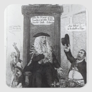The Casting Vote, or the Independant Speaker Square Sticker