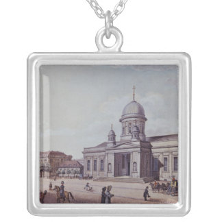 The Castle and Cathedral Church, Berlin Silver Plated Necklace