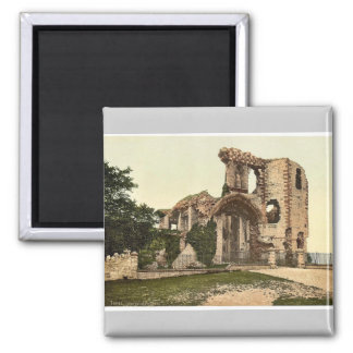 The castle, Denbigh, Wales rare Photochrom Magnet