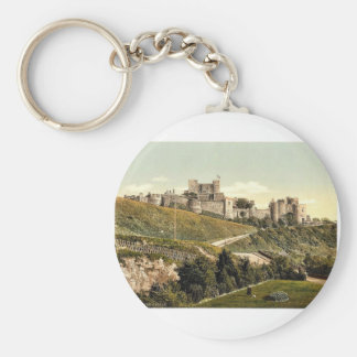 The castle, Dover, England rare Photochrom Basic Round Button Key Ring