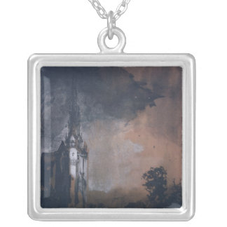 The Castle in the Moonlight Silver Plated Necklace