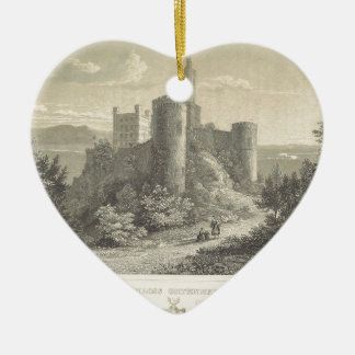 The Castle of ortenberg 1860, Darmstadt Christmas Ornament