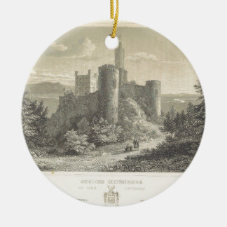 The Castle of ortenberg 1860, Darmstadt Round Ceramic Decoration