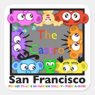 The Castro,San Fran Peek-A-Boo Crew@PlanetPeekABoo Square Sticker
