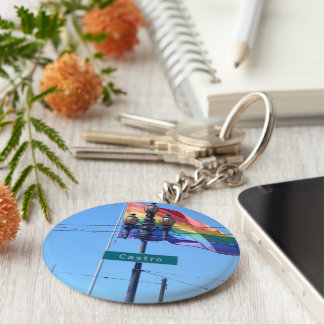 The Castro San Francisco Street Sign Keychain